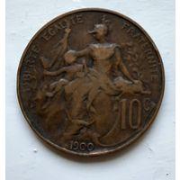 Франция 10 сантимов, 1900 2-5-8