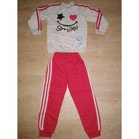 Новый спортивный костюм на байке для девочки на рост 110-116