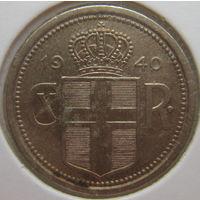 Исландия 25 эйре 1940 г. В холдере (g)