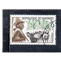 Дагомея. Mi:DY 202. Племя Peuhl, стадо, мальчик. Серия: Дагомейские племена. 1962.
