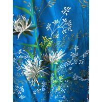 Ткань кусочек натуральный шелк СССР 50-60 гг 15 см х 130 см