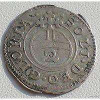 Княжество Бавария, 1/2 батцена (2 крейцера) ND Ag 1/2 SOLI  DEO GLORIA S R I A E E M C P R V B D, Максимилиан I как князь (1623-1651)