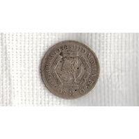 ЮАР / южная африка / 6 пенсов 1938  /серебро/Георг 6/(Ст)
