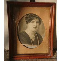 Витебск ,старинная фотография девушки в рамке