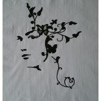 Картина АРТ - Девушка цветок