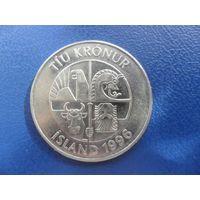 Исландия 10 крон 1996 г.