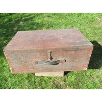 Чемодан ящик деревянный ретро н14