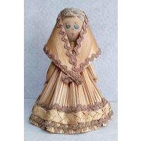 Кукла из соломки. Высота 12 cм