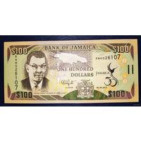 """РАСПРОДАЖА С 1 РУБЛЯ!!! Ямайка 100 долларов 2012 год UNC """"Юбилейная"""""""