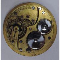 """Механизм на карманные часы """"Longines"""" Швейцария. Диаметр механизма 4.1 см. Циферблата 4.4 см. Не исправный."""