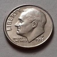 10 центов (дайм) США 1993 Р,  AU