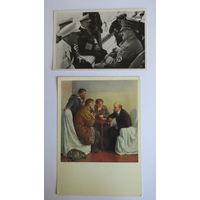 Олимпиада 1936 г. Третий Рейх. Группа номер 57. Подборка их двух открыток с похожими сюжетами. Отличное состояние...