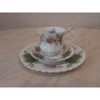 Чайное трио / тройка Berkeley высококачественный фарфор Royal Albert England.