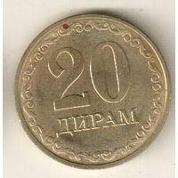 Таджикистан 20 дирам 2019