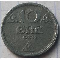 Норвегия 10 эре, 1942    ( 5-5-1 )