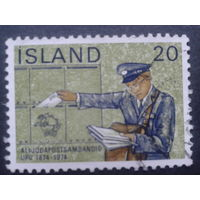 Исландия 1974 100 лет ВПС, почтальон