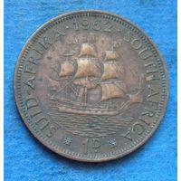 Южная Африка Британский доминион 1 пенни 1952 Георг VI