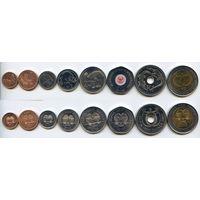 Папуа Новая Гвинея НАБОР 8 монет 2001-2008 UNC