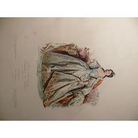 Гравюра 1860 год. Императрица России Анна Иоановна.