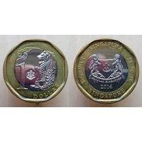1 доллар 2014 Сингапур UNC