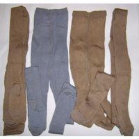 Колготки шерстяные коричневого цвета, новые, р.20, рост-134-140см