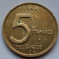 Бельгия,  5 франков 1994 г. 'BELGIQUE'