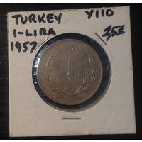 Турция, 1 лира 1957г., один год выпуска