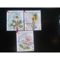 Хорватия 2008 цветы полная серия