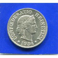 Швейцария 5 раппен 1934