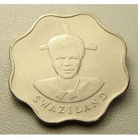 """Эсватини """"Свазиленд"""" 10 центов 1986 год KM#41 """"Король Мсвати III"""""""