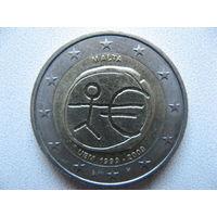 Мальта 2 евро 2009г. 10-летие монетарной политики ЕС (EMU) и введения евро. (юбилейная)
