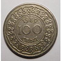 Суринам. 100 центов 1989г.