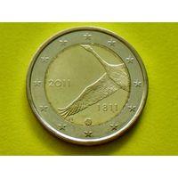 Финляндия, 2 евро 2011, биметалл, 200 лет банку Финляндии