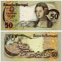 Португалия. 50 эскудо (образца 1980 года, P174b, подпись 6, aUNC)