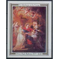 1978 - Нигер Живопись Рождество ** Бл 19