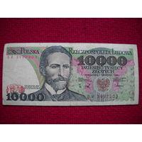 Польша 10 000 злотых 1988 г.