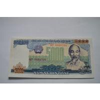 Вьетнам 5000 вон образца 1987 года AUNC p104