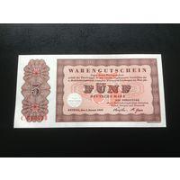 Германия, 5 марок, 1958, Номер С 048438.