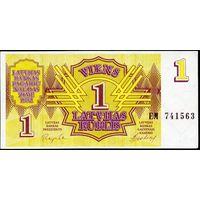 Латвия. 1 рубль 1992. P35 UNC