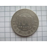 Конго 100 франков 1975г.