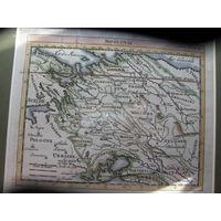 Карта Беларусь Московия Украина оригинал 17 век