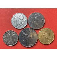 Италия, 5 разных монет