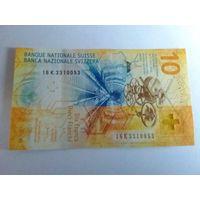 Швейцария 10 франков состояние UNC