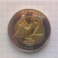 Ватикан 2 евро 2005г. -образец-
