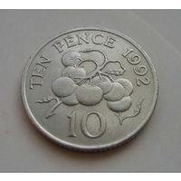 Гернси 10 пенсов 1992г.