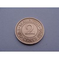 Маврикий. 2 цента 1966 год КМ#32 Нечастая!!!