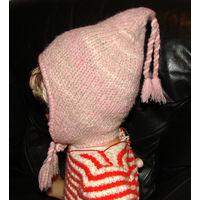 Детская шапка для девочки 6-8 лет, новая, из Германии, 100% шерсть
