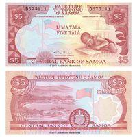 САМОА 5 долларов тала 2002 год ПРЕСС из пачки UNC