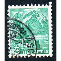 61: Швейцария, почтовая марка, 1936 год, номинал 5с, SG#369A