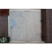 Карта Генштаба СССР в полнейшем оригинале.Редчайшая. Всё на фото.